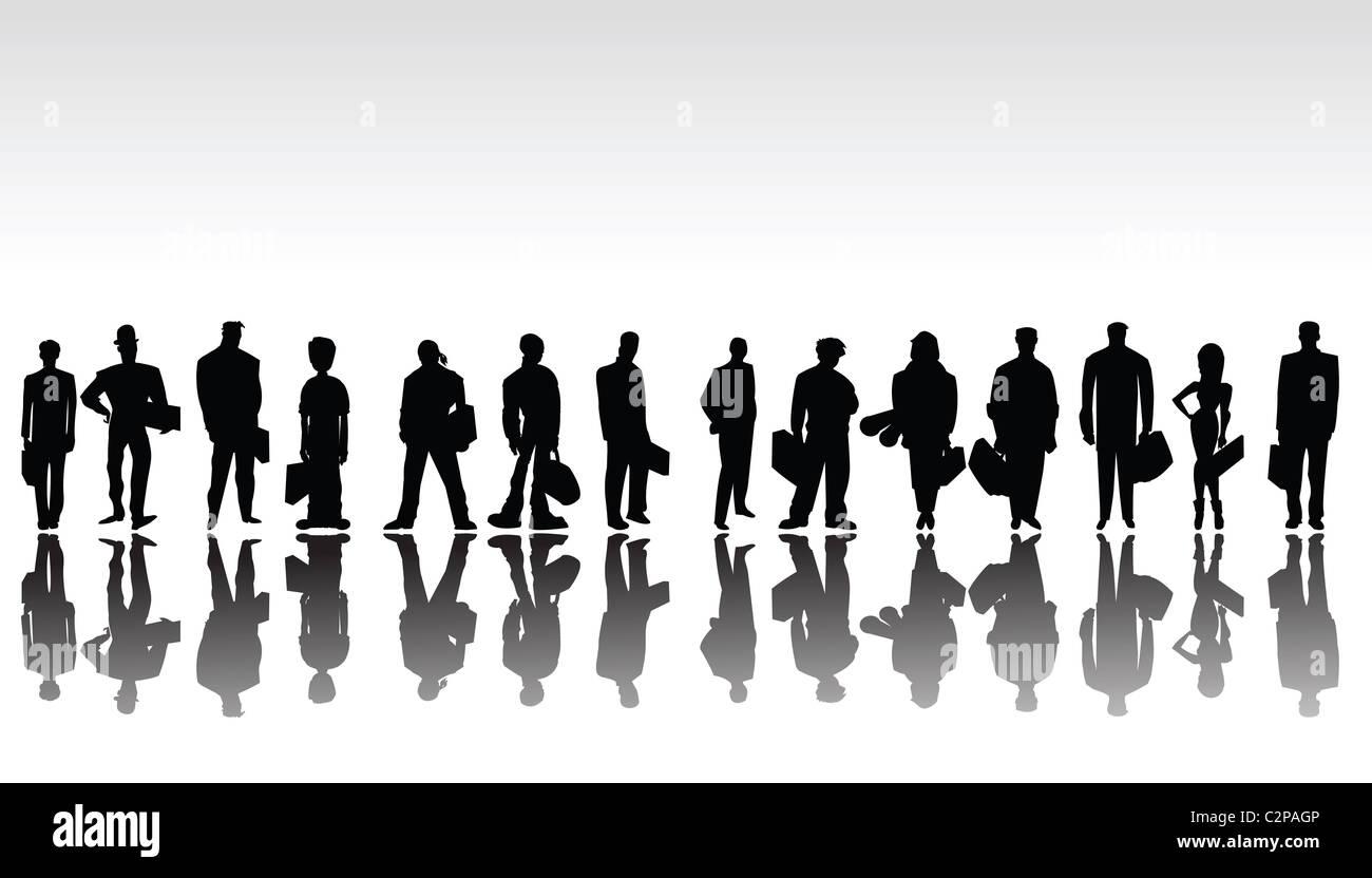 Sagome Stilizzate Di Persone.Stilizzata La Gente Di Affari Sagome Foto Immagine Stock