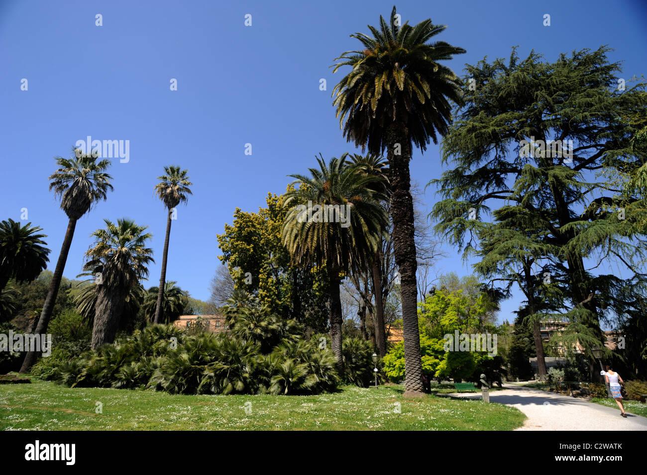 Italia, Roma, a trastevere, orto botanico, giardini botanici Immagini Stock