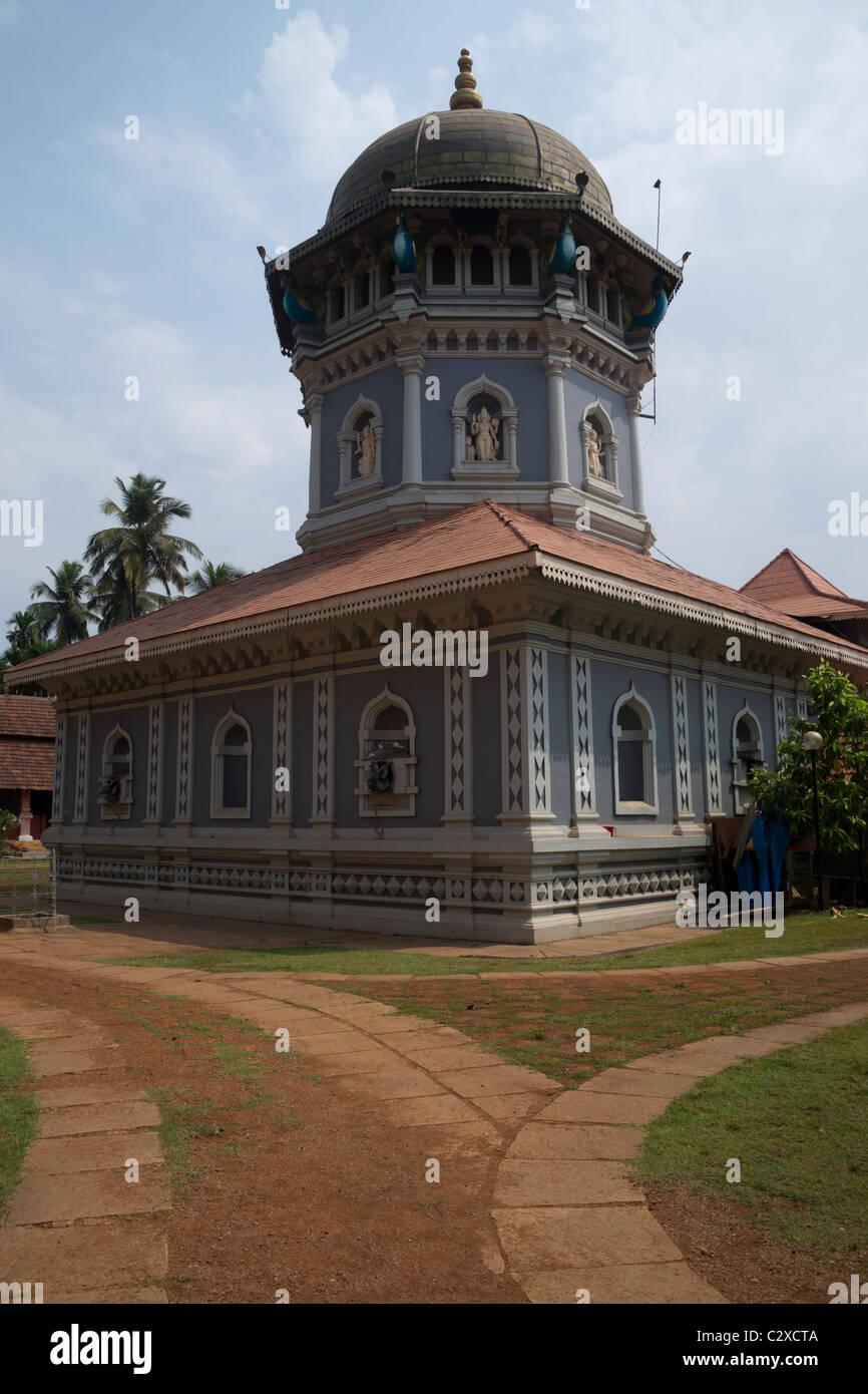 Mahalsa tempio in Ponda è dedicato alla dea della ricchezza e prosperità. Immagini Stock