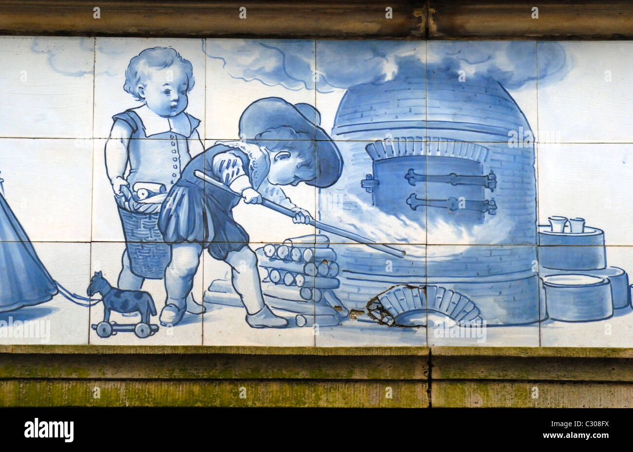 Delft paesi bassi bianco e blu delft piastrelle ceramiche sopra