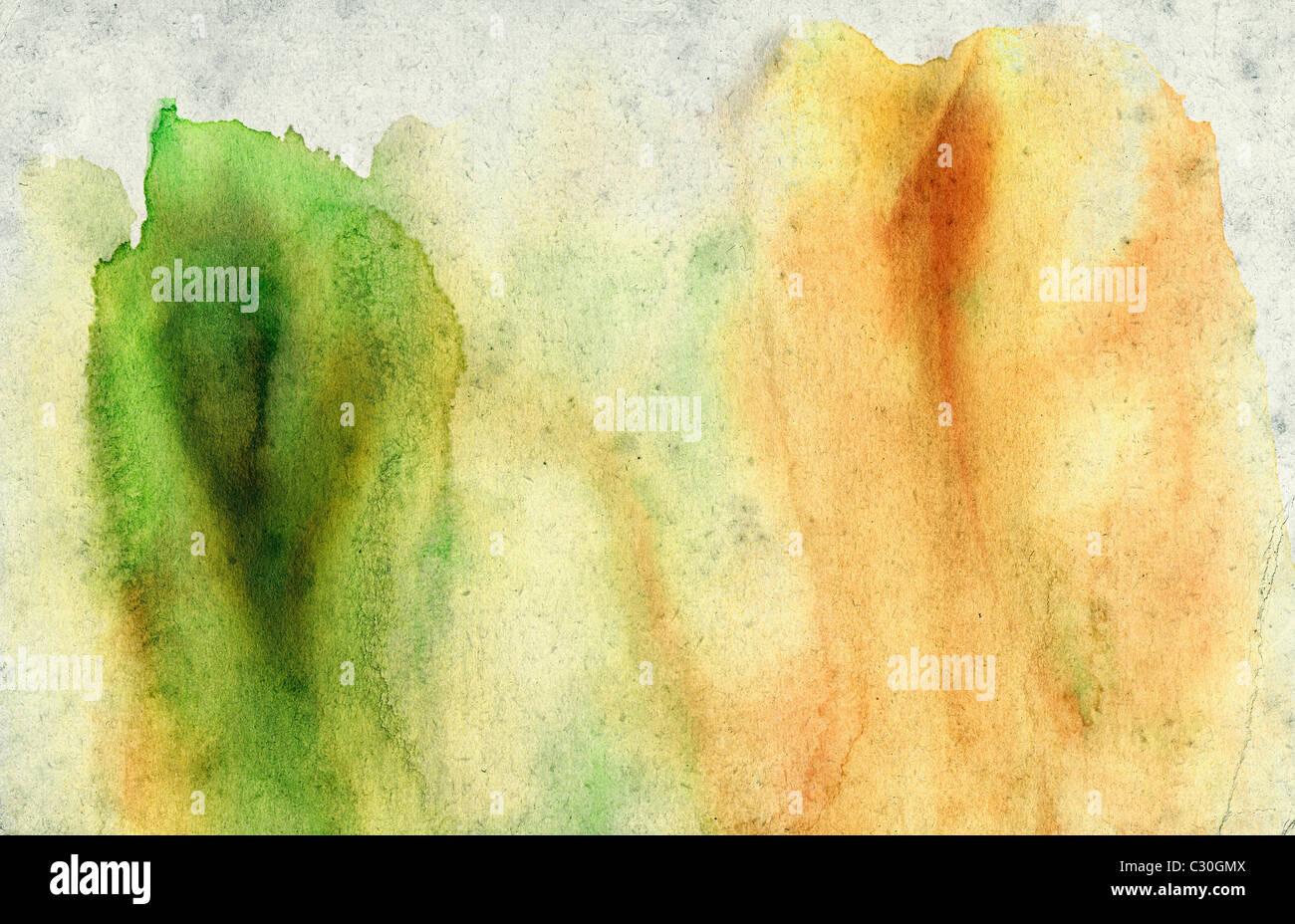 Moderne Abstract Mixed Media Wall arte pittura. Creativa contemporanea illustrazione creata utilizzando pallet spazzola Immagini Stock