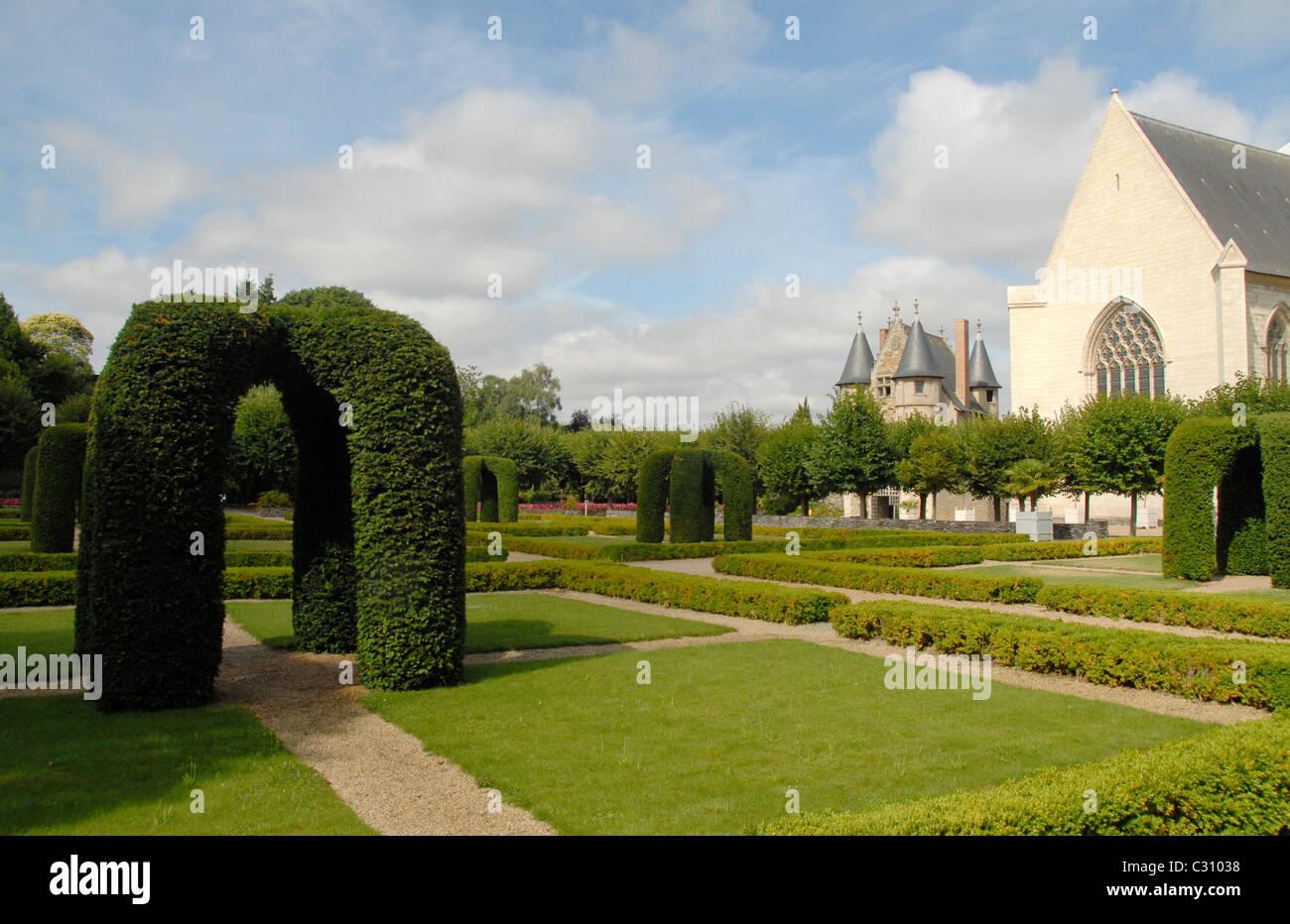 Il castello château d'Angers nel patrimonio mondiale UNESCO area del francese la Valle della Loira è Immagini Stock