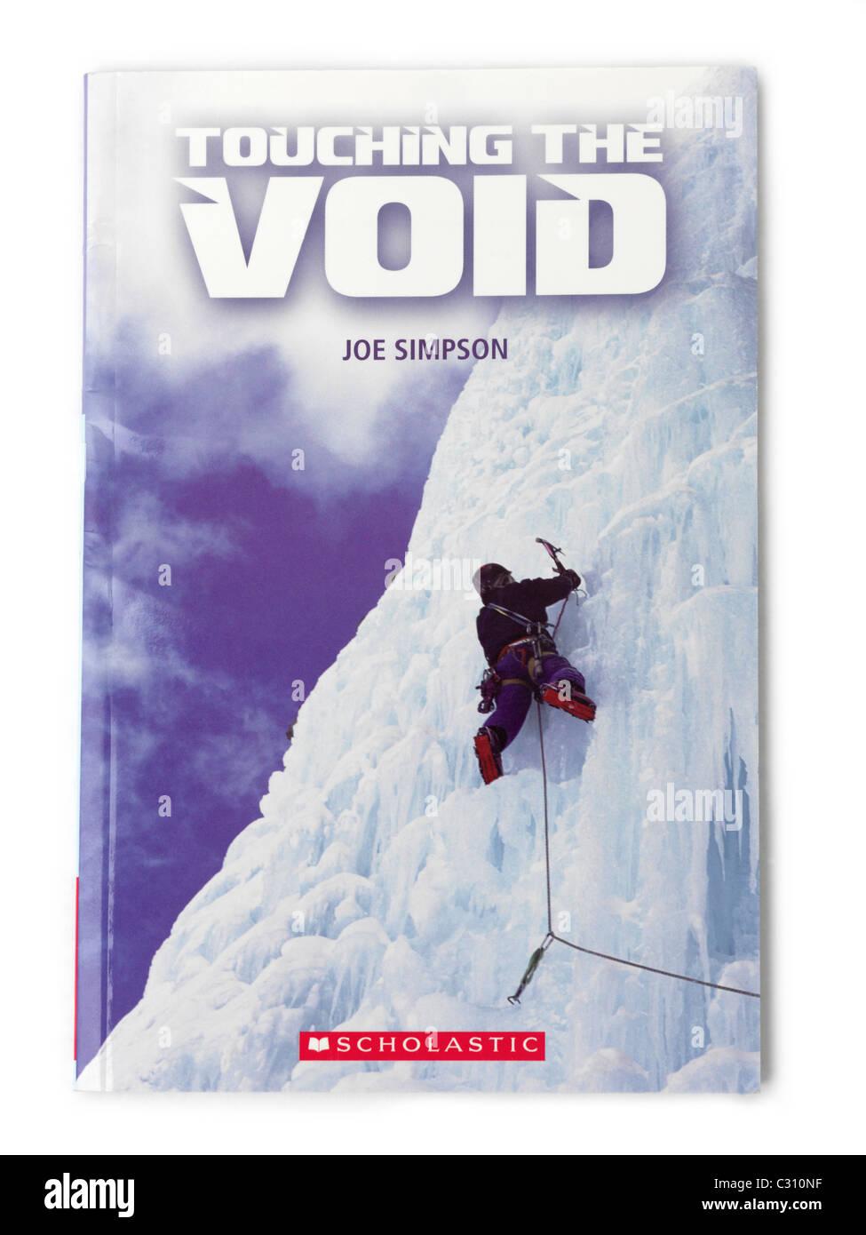 La copertina del libro di toccare il vuoto da Joe Simpson Immagini Stock