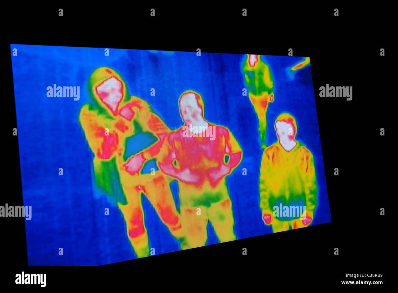 Foto di immagine termica schermo per lo sfondo Immagini Stock
