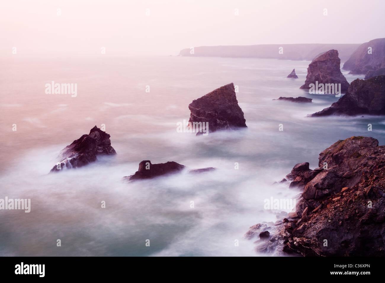 Tregurrian, Cornwall, Regno Unito. Immagini Stock