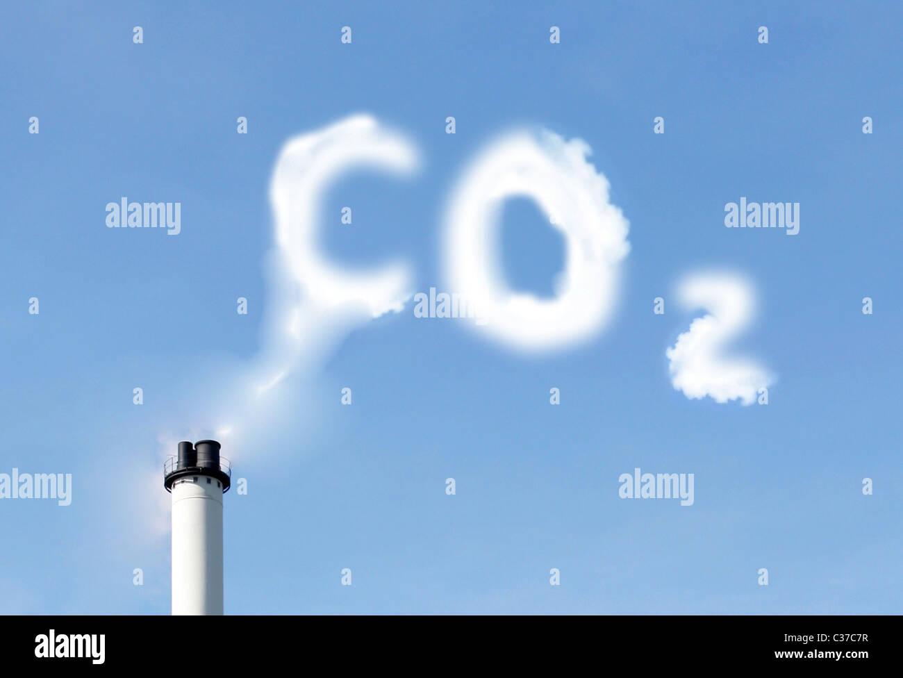 Emissioni di CO2 Immagini Stock