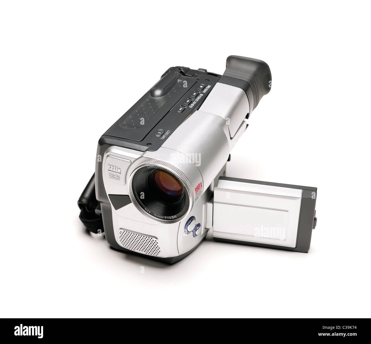 La telecamera video, tagliati fuori. Immagini Stock