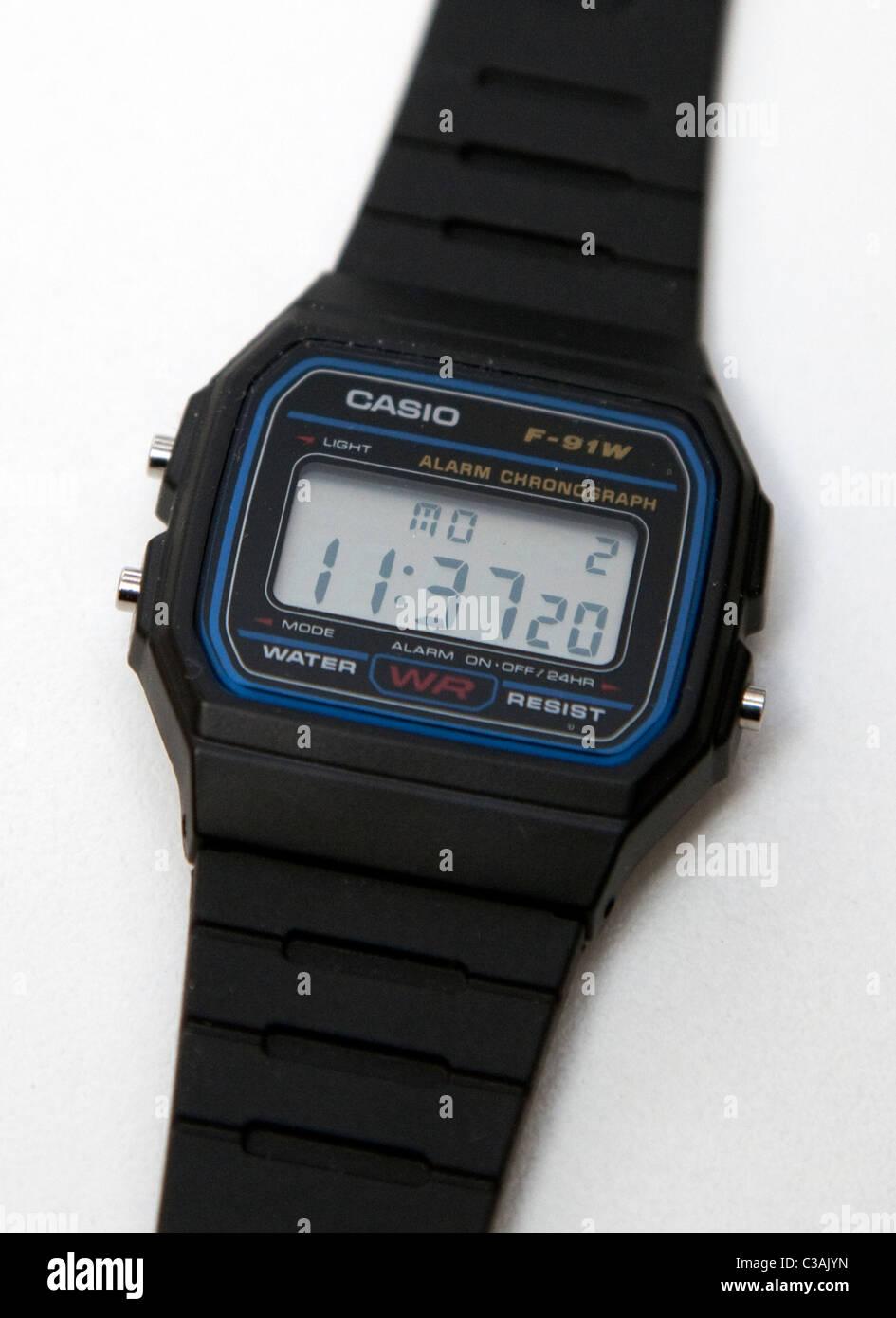Casio F-91W orologio da polso Immagini Stock