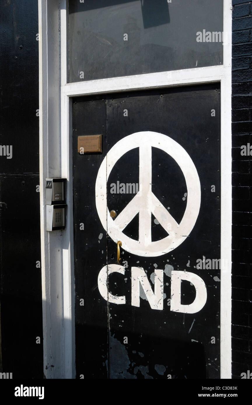 CND ufficio nazionale a 162 Holloway Road, Londra, Inghilterra Immagini Stock