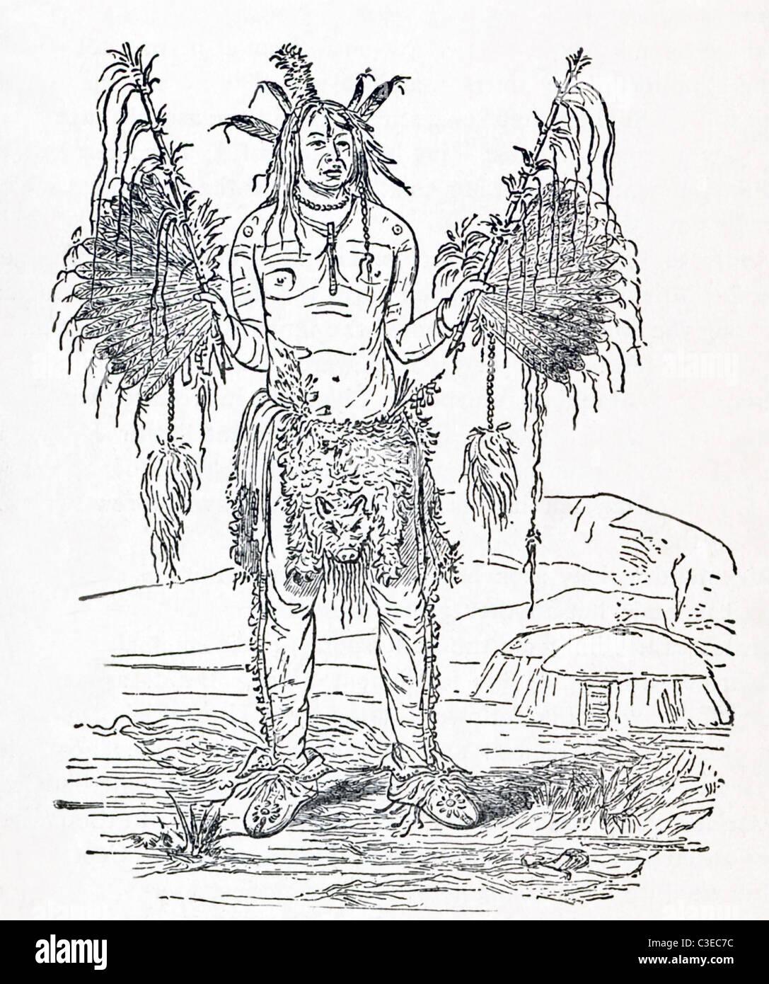 Questa illustrazione intitolata 'New England Stregone' risale a circa il 1906. Immagini Stock