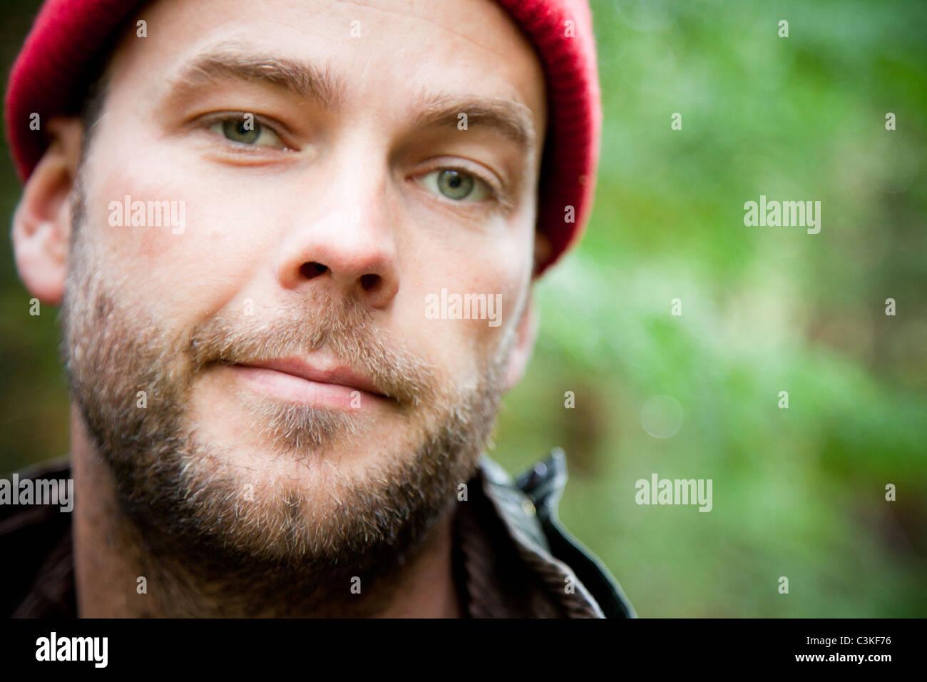 Close-up di uomo, ritratto Immagini Stock