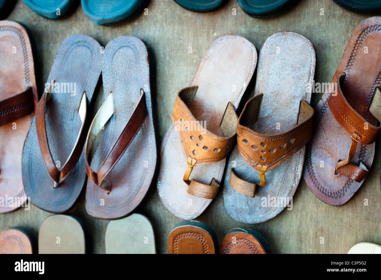 Pantofole indiani Foto Stock