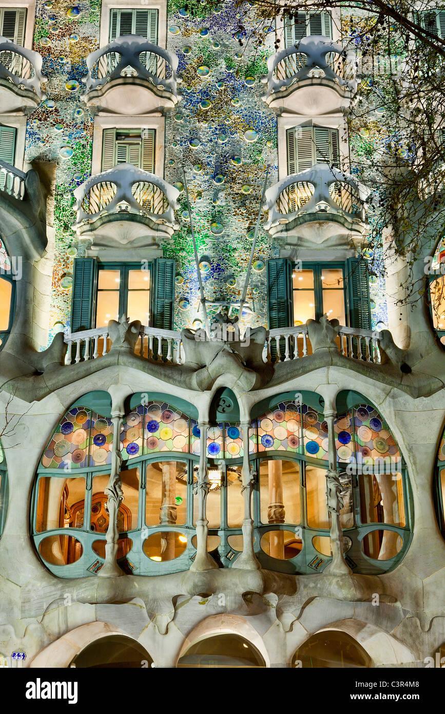Barcellona, la Casa Battlo Immagini Stock