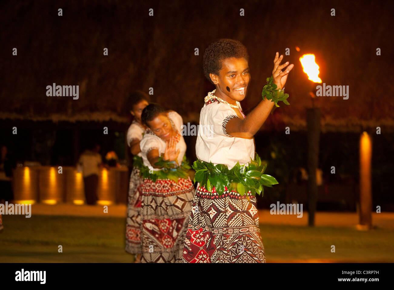 Lovo, Festa delle Fiji, Shangri-la Fijian Resort e Spa, Coral Coast, Viti Levu, Isole Figi Immagini Stock