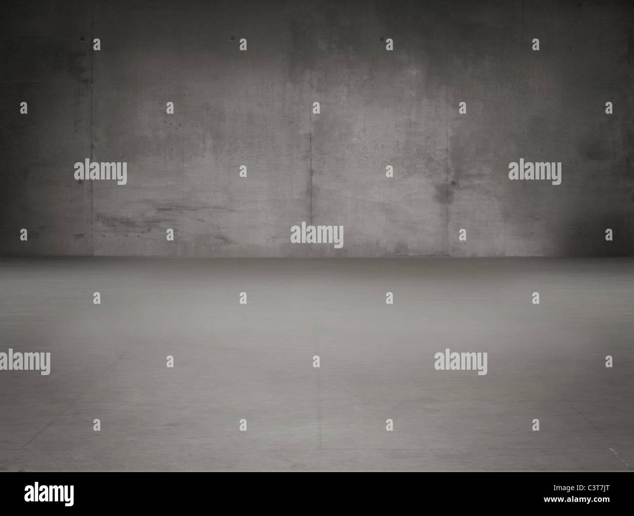 Il vecchio grunge interno grigio Immagini Stock