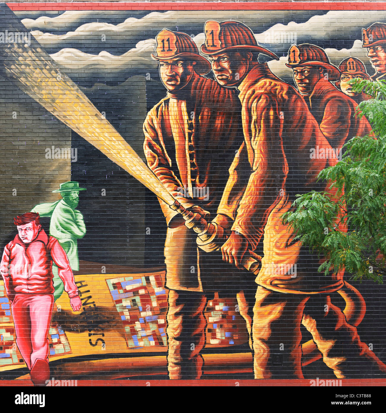 Il coraggio di mappatura murale, Philadelphia Immagini Stock