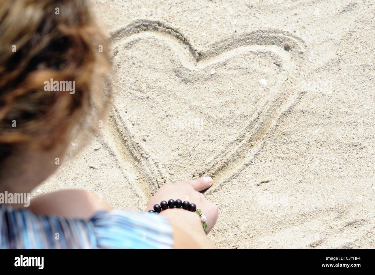 Flirt vacanza Immagini Stock