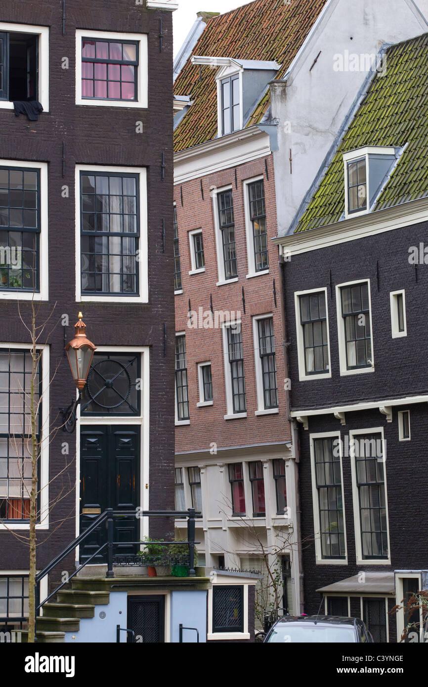 Architettura case di Amsterdam Olanda Paesi Bassi Immagini Stock