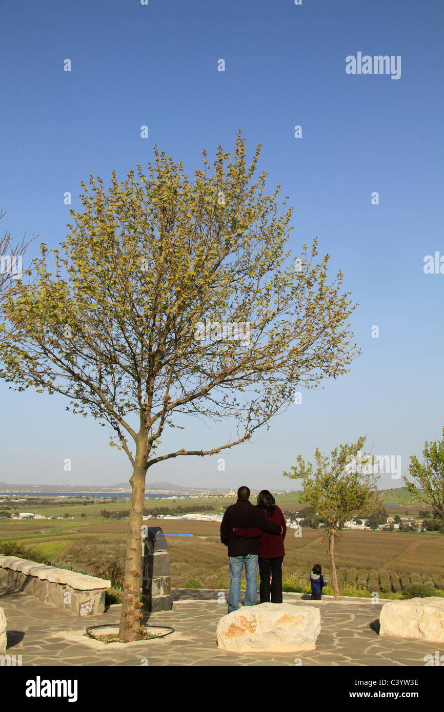 Alture del Golan, Quneitra Lookout Foto Stock