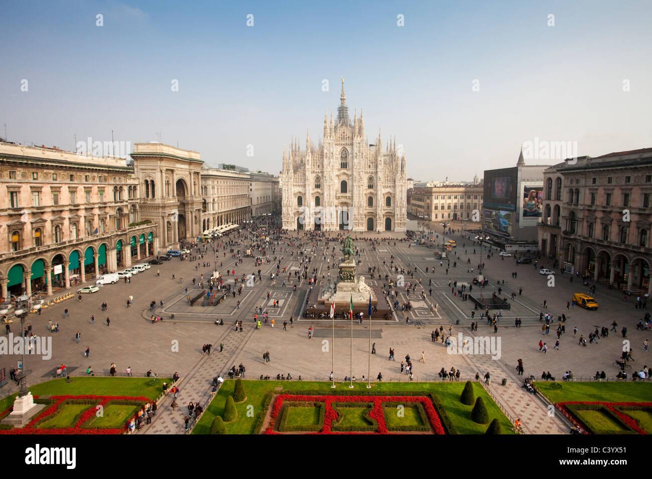 L'Italia, Europa, Milano, Milano, Cattedrale, Duomo, chiesa, luogo, prato, turistico Immagini Stock