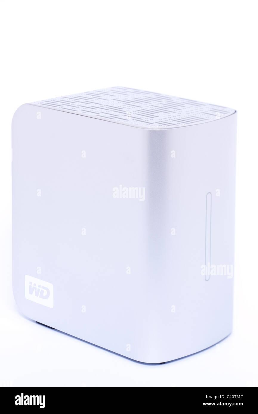 Un Western Digital MyBook Studio II Edizione 2TB Firewire 400 / 800 & eSata disco rigido esterno su sfondo bianco Immagini Stock