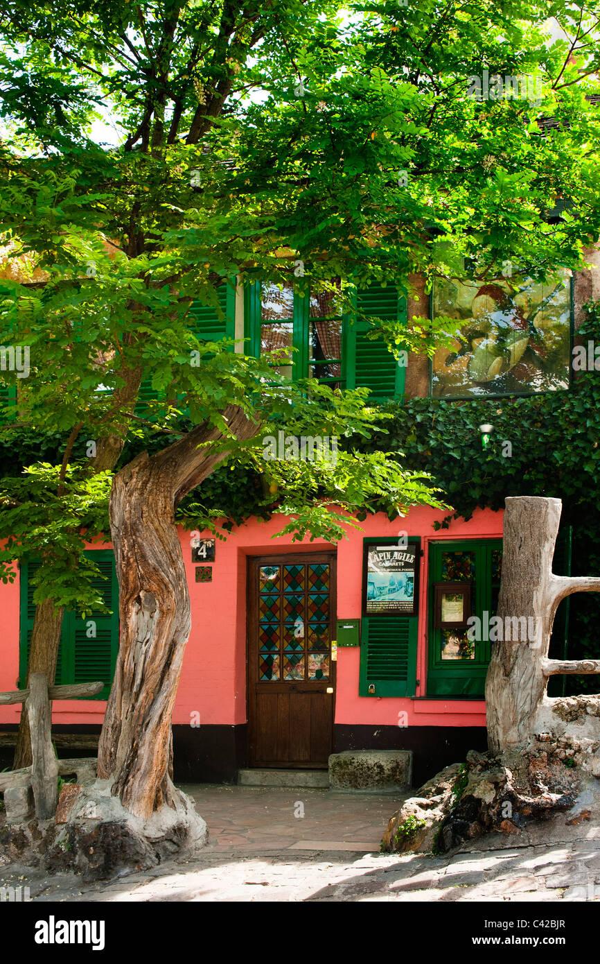 Au Lapin Agile Cabaret Club di Montmartre, Parigi Immagini Stock