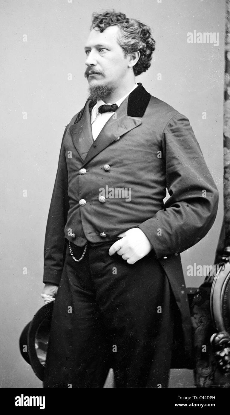GEORGE FRANCIS TRAIN (1829-1904) eccentrico inventore americano e scrittore Immagini Stock