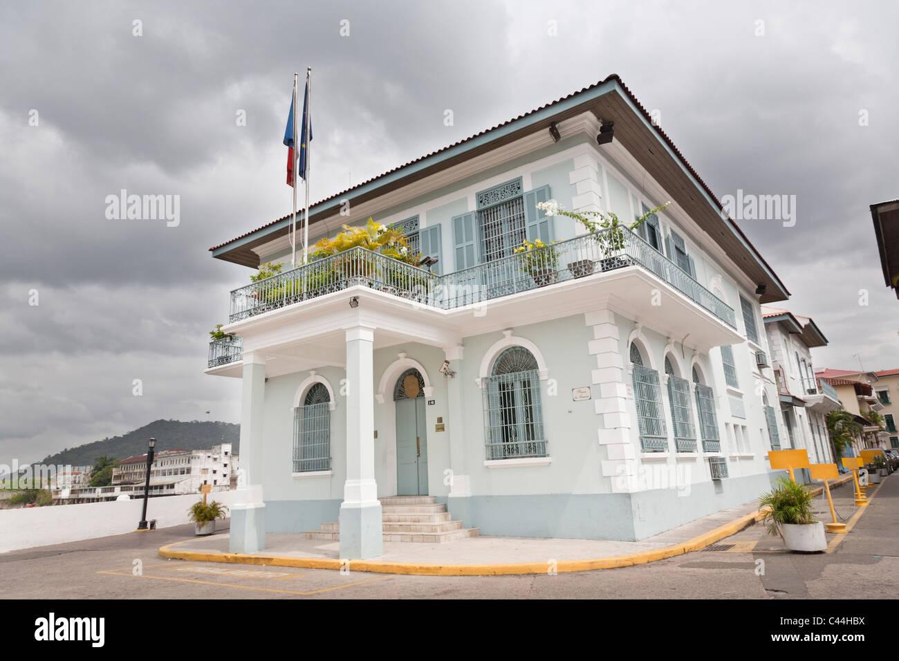 Ambasciata francese, Casco Viejo, Panama City. Immagini Stock