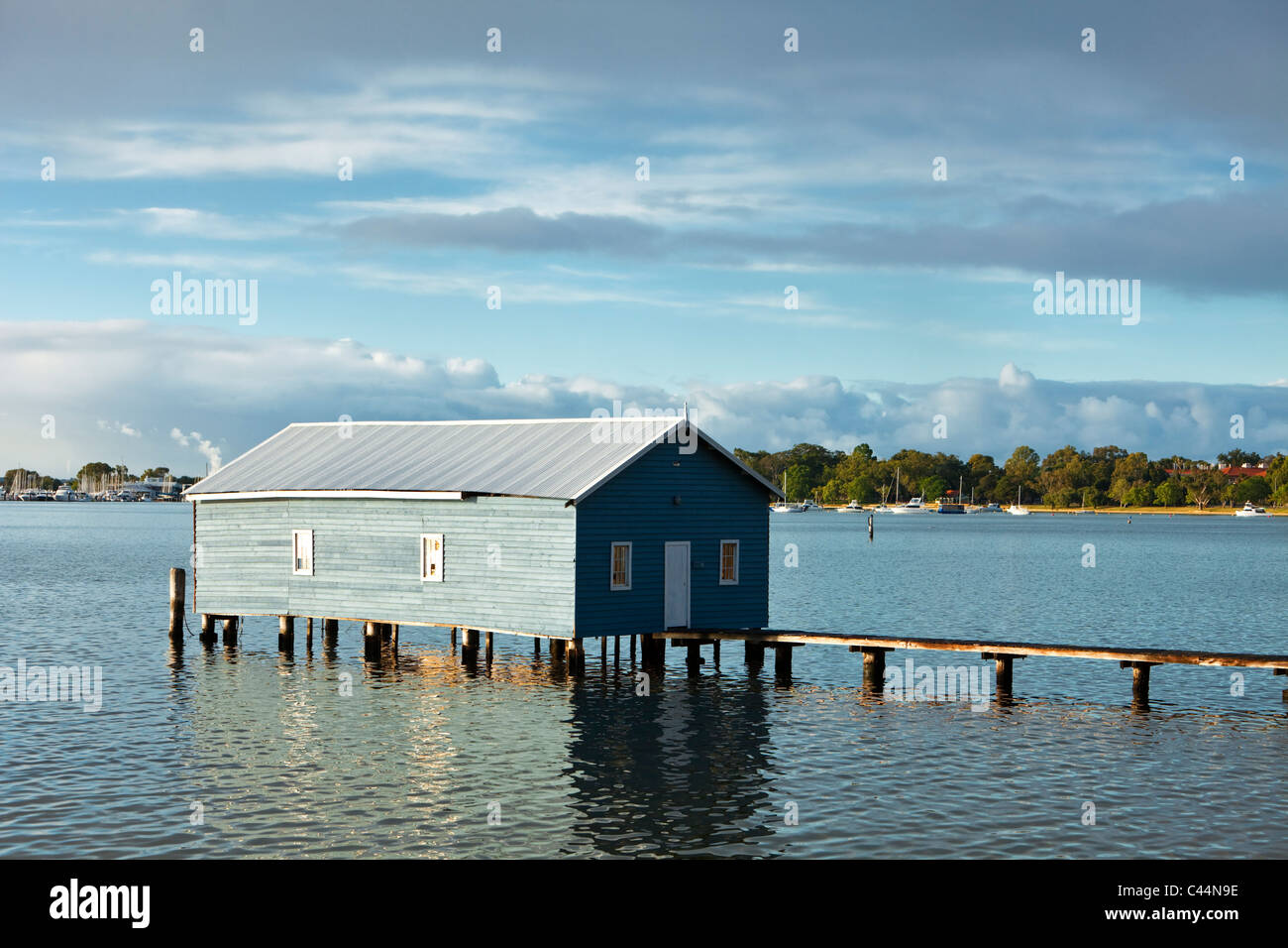 Il bordo di Crawley Boatshed sul Fiume Swan. Perth, Western Australia, Australia Immagini Stock