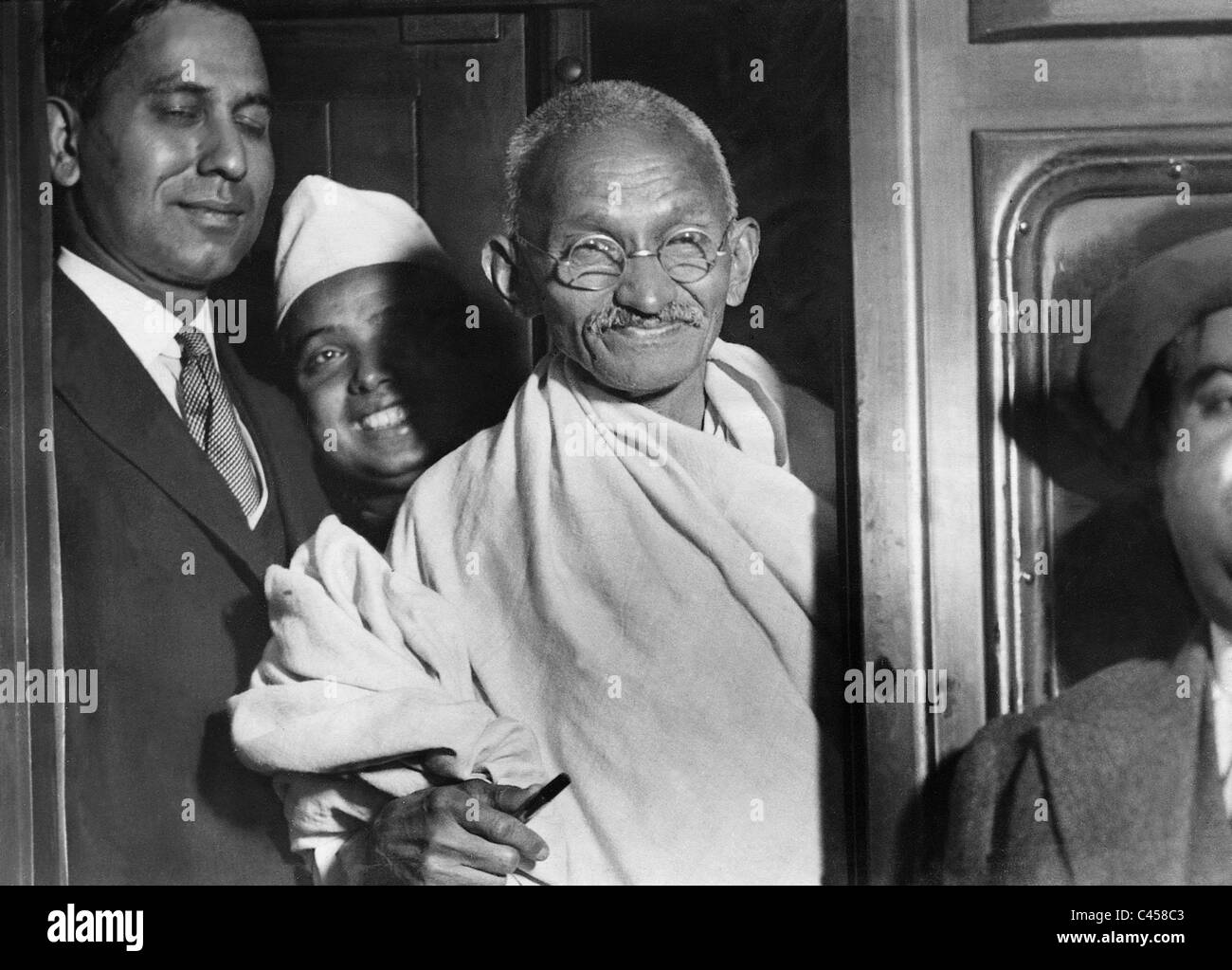 Il Mahatma Gandhi, 1932 Immagini Stock