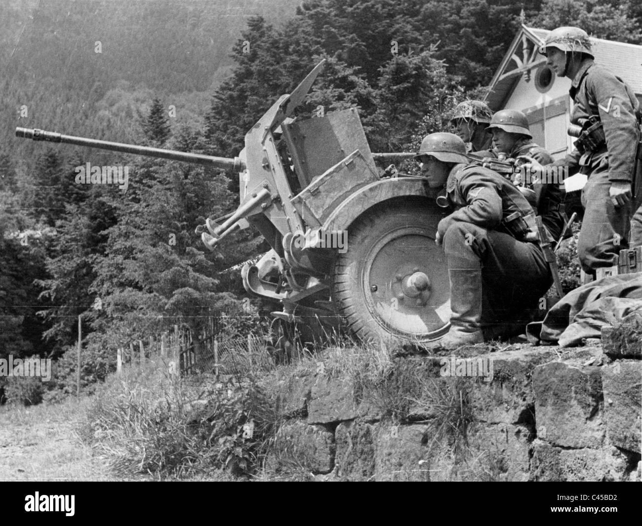 Germania nazista 2 cm 38 antiaerea nel Caucaso, 1942 Immagini Stock