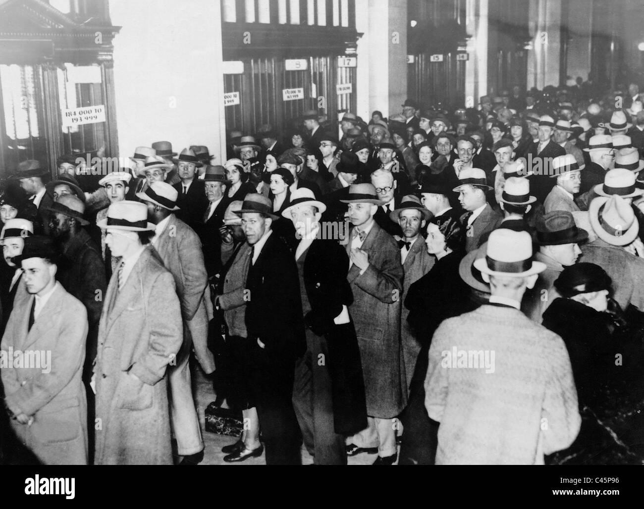 Grande Depressione, 1933 Immagini Stock