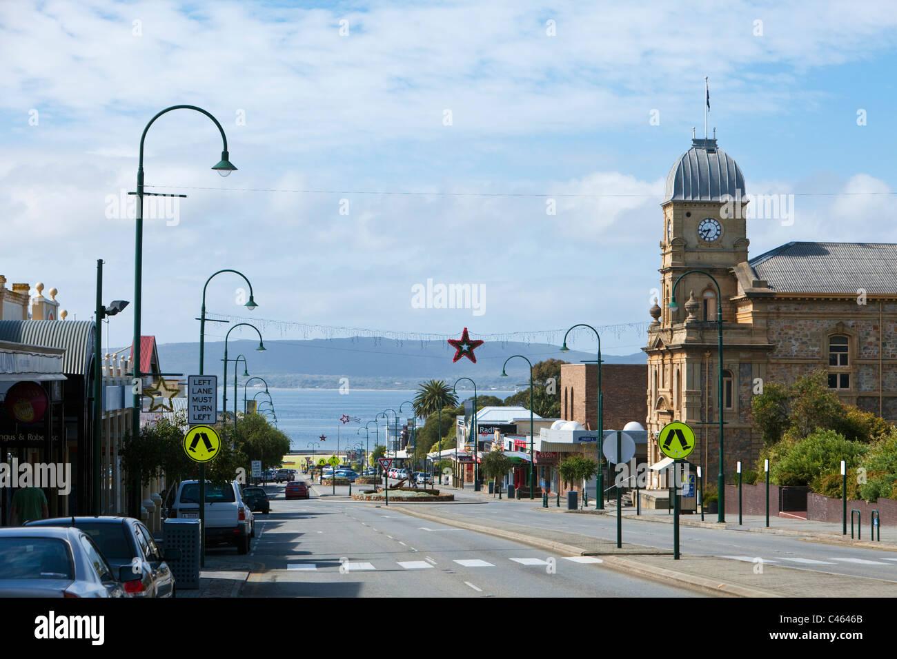 Vista del Municipio e York Street. Albany, Australia occidentale, Australia Foto Stock