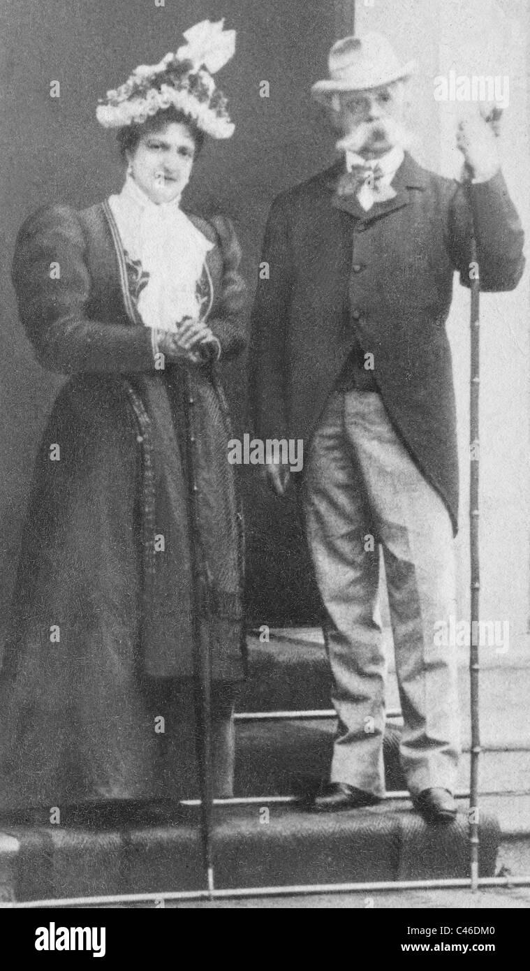 Il re Umberto I e la Regina Margherita d'Italia, 1900 Foto
