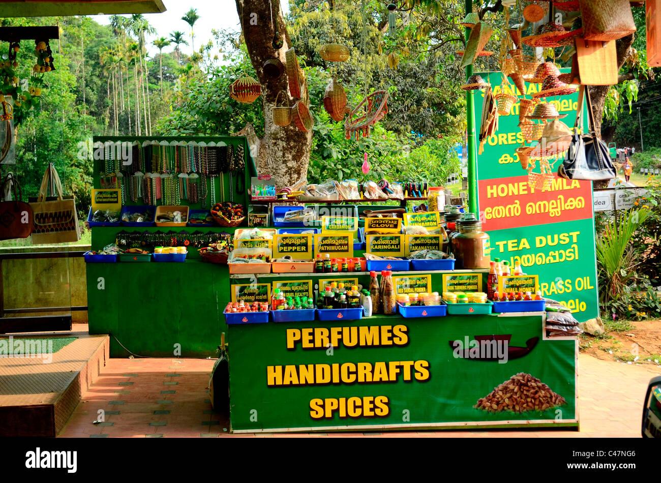 Spezie e uscita di profumo in India Immagini Stock