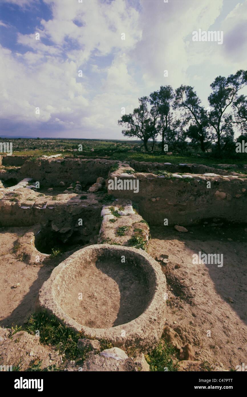 Fotografia del tumulo Safi vicino la biblica del Filisteo città di Gat Foto Stock