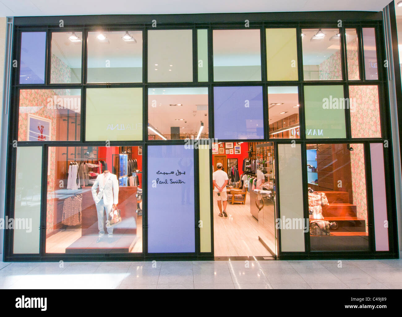 Paul Smith store all'interno del centro commerciale di Dubai negli Emirati arabi uniti Immagini Stock