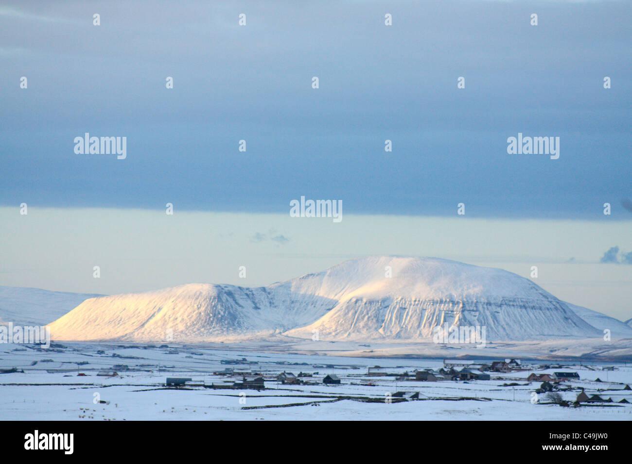 Ward Hill in inverno, Orkney Isles Immagini Stock