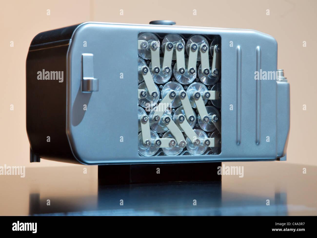 Batteria agli ioni di litio Mercedes Classe S Hybrid auto energia elettrica Immagini Stock