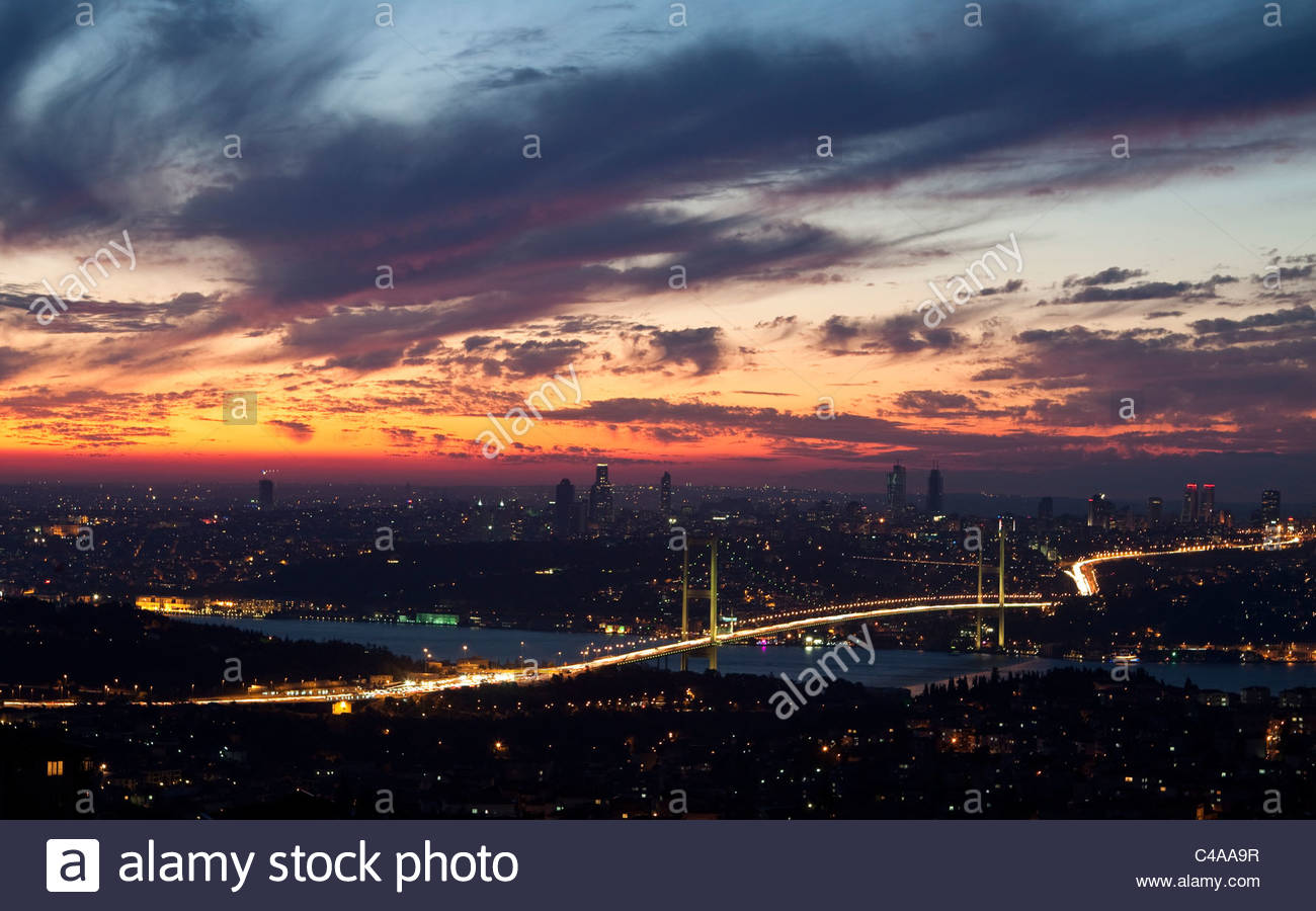 Ponte del Bosforo Immagini Stock