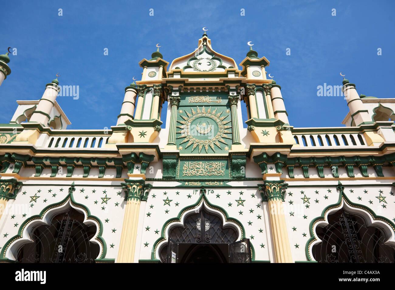 Singapore, Singapore, Little India. Architettura islamica di Abdul Gaffoor moschea. Immagini Stock