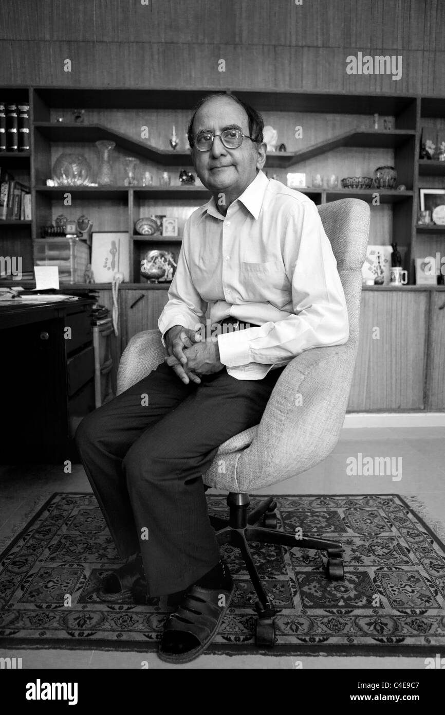 Hassan segnalatori acustici Askari Rizvi, Pakistani politcal indipendenti analist. Immagini Stock