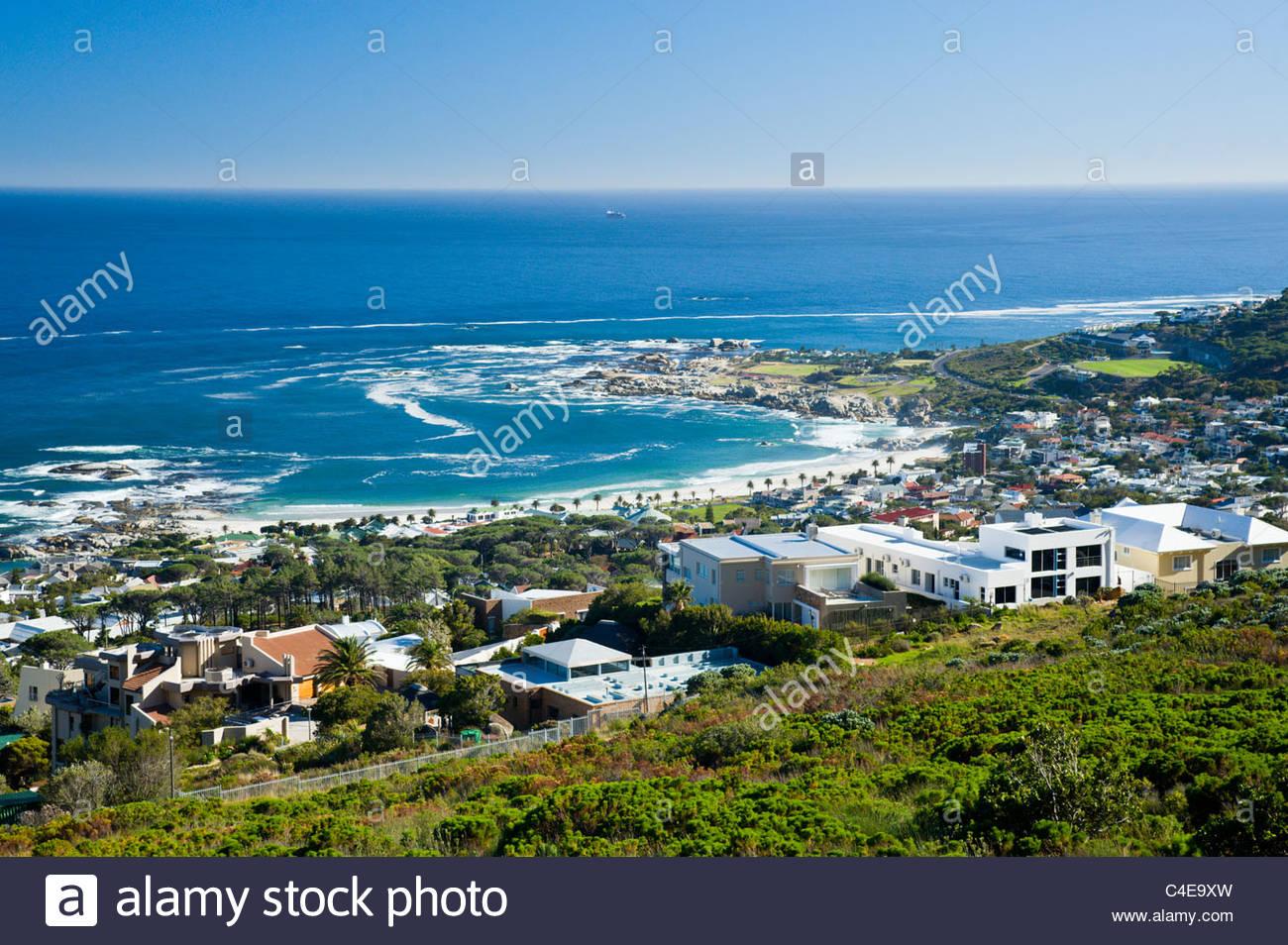 Camps Bay, Città del Capo, Sud Africa Foto Stock