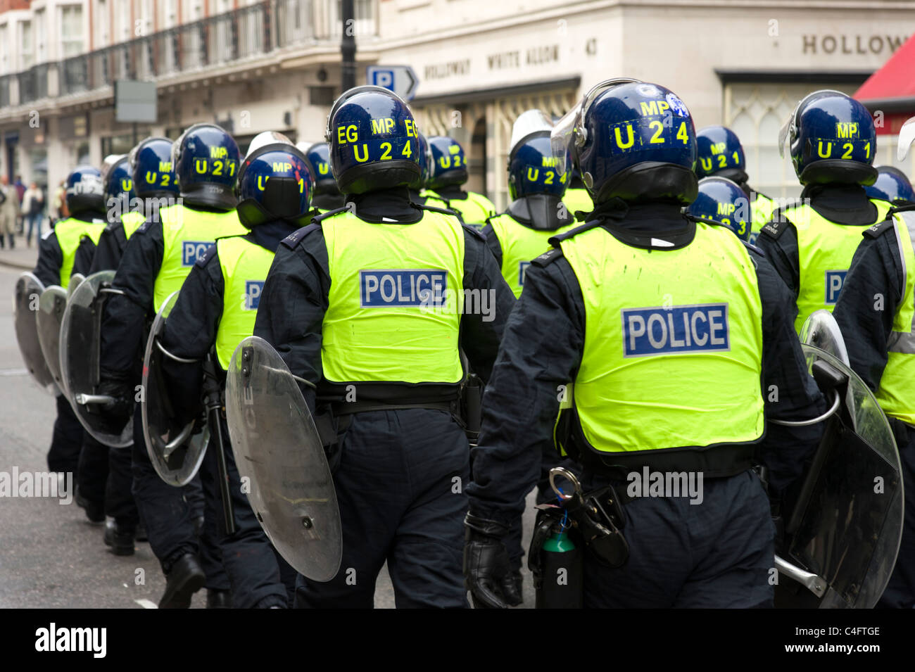 La polizia antisommossa, London, Regno Unito Immagini Stock