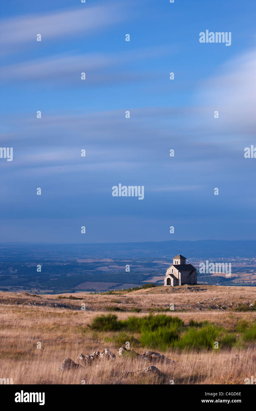 Chapelle de Saint-Ferrèol con Lauragais Campagna, Montagne Noire, Tarn, Midi Pirenei, Languedoc, Francia Immagini Stock