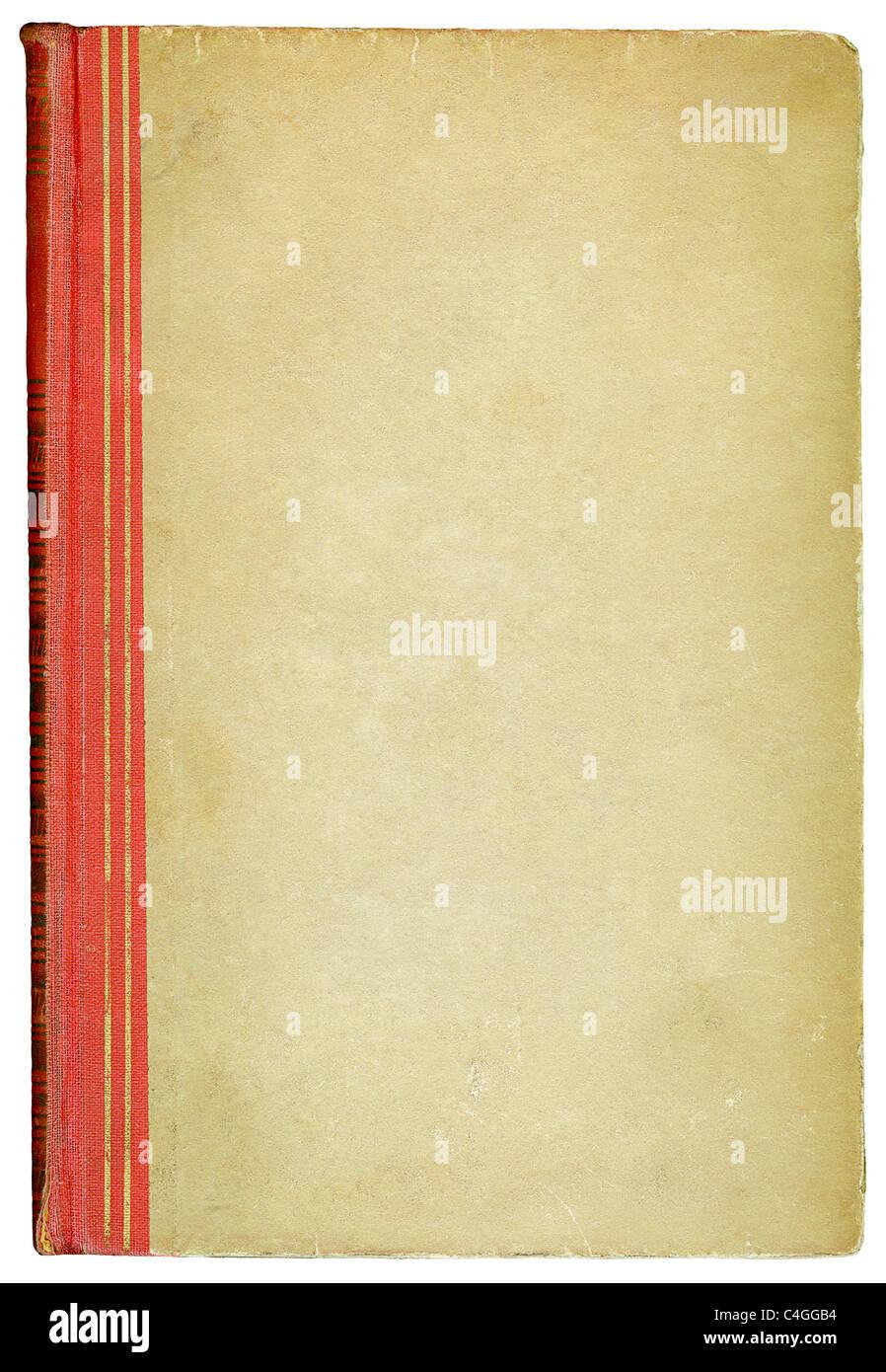 Vecchia copertina di libro Immagini Stock