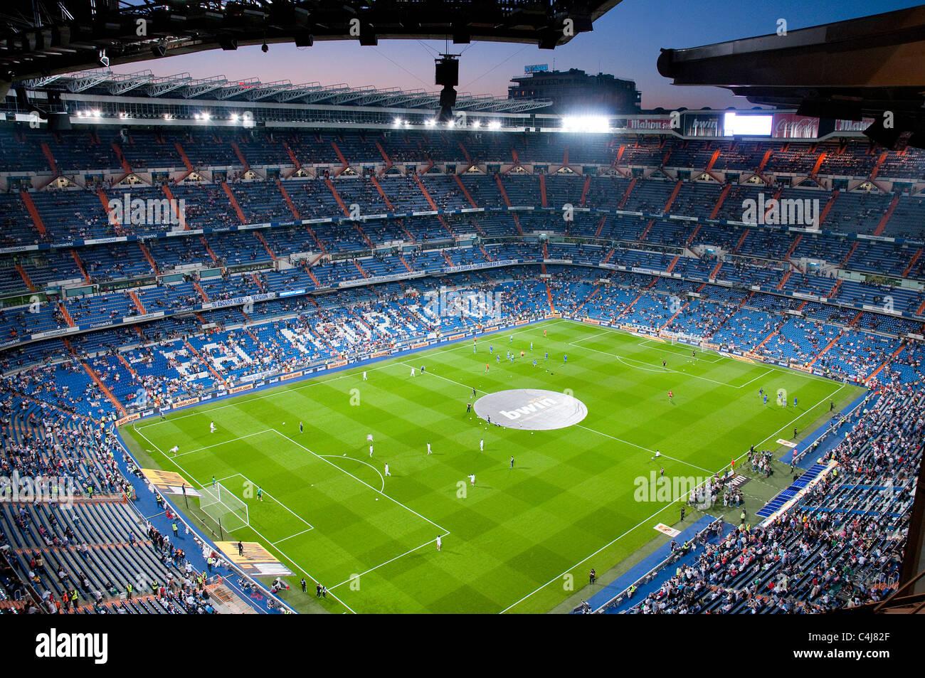 Sessione di Allenamento prima della partita del Real Madrid contro il Getafe, Santiago Bernabeu Stadium. Madrid, Immagini Stock