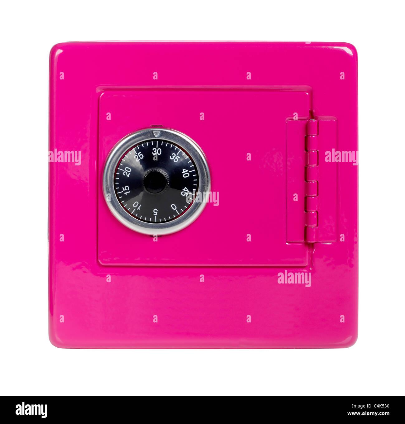 Salvadanaio cassaforte rosa Immagini Stock