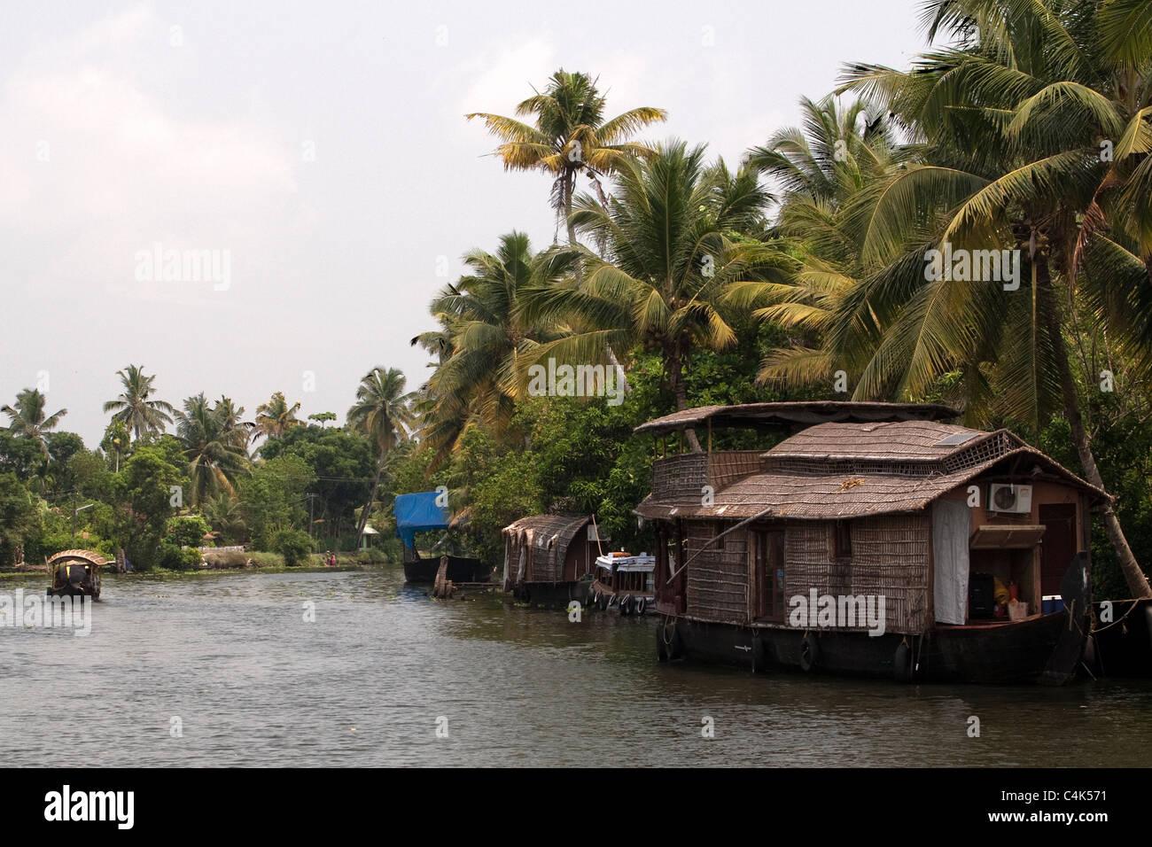 Backwaters di Alleppey Immagini Stock