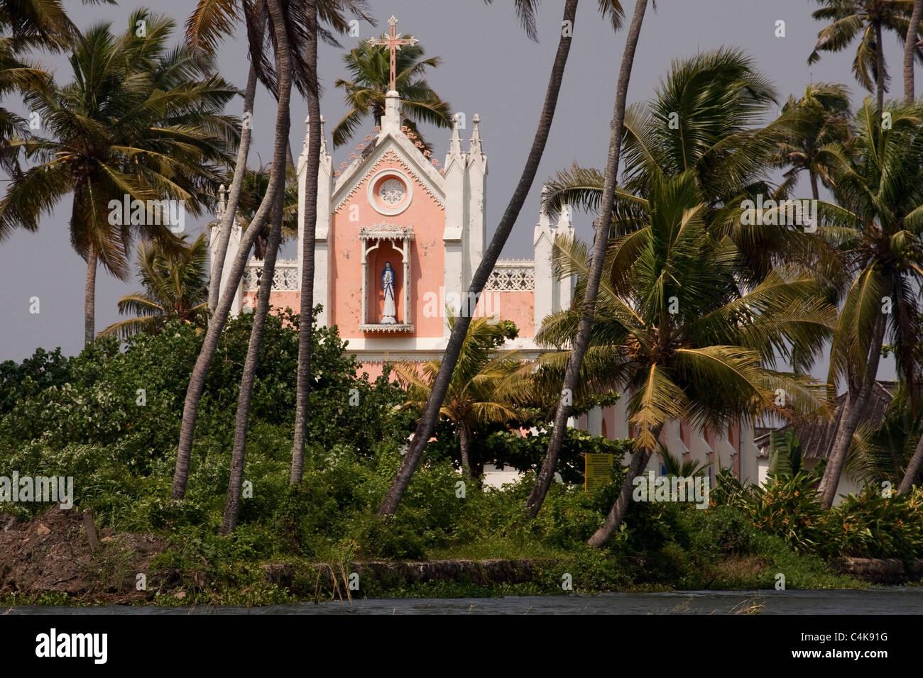 Chiesa backwaters di Alleppey Immagini Stock